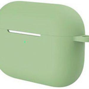 2-in-1 Silicone case beschermhoesje geschikt voor Apple AirPods Pro - Case met gratis karabijnhaak   EarKings - Groen