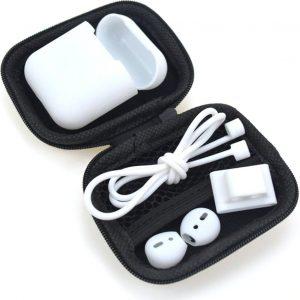 5 in 1 Silicone Protective Case Geschikt voor Apple AirPods - Wit