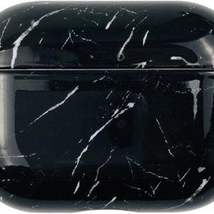 AirPods PRO 2 cover - marmer - hard cover case - Zwart - Black - Geschikt voor Apple AirPods PRO 2 - beschermdoos - AirPods PRO 2 hoesje - handige gadget