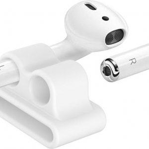 AirPods horlogebandhouder - Wit | geschikt voor Apple Airpod-accessoireshouder voor oefeningen | Beveilig veilig uw AirPods op uw polsband
