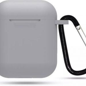 Airpod Siliconen Hoesje Casez - Grijs - Geschikt voor Apple Airpods