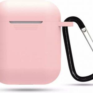 Airpod Siliconen Hoesje Casez - Lichtroze - Geschikt voor Apple Airpods