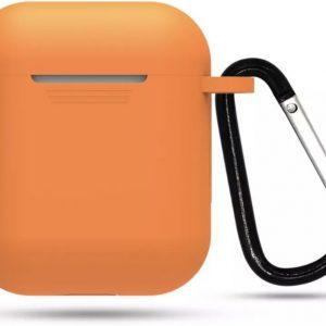 Airpod Siliconen Hoesje Casez - Oranje - Geschikt voor Apple Airpods