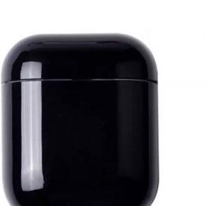 Airpods Case Cover - Beschermhoes - Zwart - Geschikt voor Apple Airpods