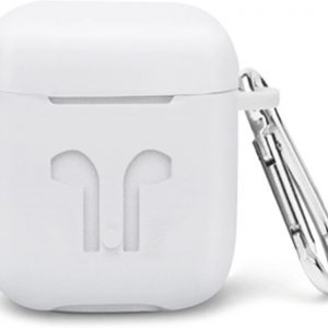 Airpods Case Hoesje voor Apple Airpods 1 en 2 Soft Case van SEOS Shop ® - Wit