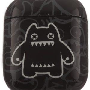 Airpods Marmer Case Cover - Beschermhoes - Zwart - Lichtgevend Beer - Geschikt voor Apple Airpods