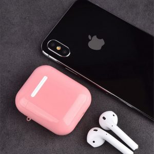 Airpods Plastic Hard Case Cover Hoesje voor Apple Airpods 1 / 2 - Roze