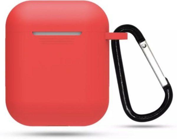 Airpods Siliconen Hoesje Case - Rood - Geschikt voor Apple AirPods