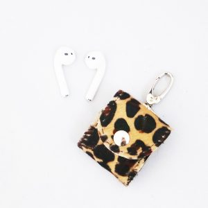 Airpods case 'Macy' leer panter - Airpods hoesje - cases