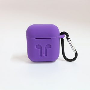 Airpods hoesje siliconen case cover beschermhoes-Paars