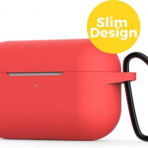 Apple Airpods Pro Siliconen Case Hoesje - Beschermhoes - Rood