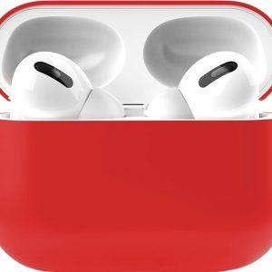 Apple Airpods Pro Siliconen - Case - Hoesje - Geschikt voor Apple Airpods Pro - Rood
