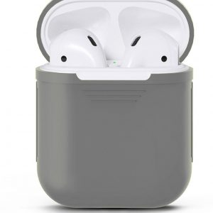 Apple Airpods Siliconen - Case - Cover - Hoesje - Speciaal voor Apple Airpods 1 en 2 - Grijs
