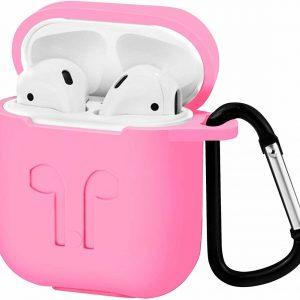 Apple Airpods hoesje - Premium Siliconen beschermhoes met opdruk - 3.0 mm - Roze