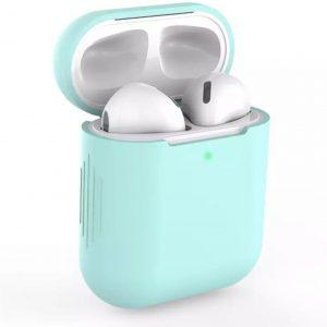 Bescherm Hoes Cover Case voor Apple AirPods (Siliconen) - Lichtblauw