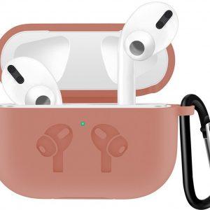Case Cover Voor Apple Airpods Pro- Siliconen Diverse Kleuren   Lichtroze   Watchbands-shop.nl