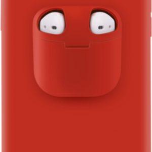 Discount 4 Life - Telefoonhoesje met AirPods doosje voor iPhone 11 Pro Rood - Hoesje met AirPods case holder op telefoon 2 in 1.