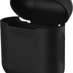 Geschikt voor Apple Airpods hoesje/case - Zwart