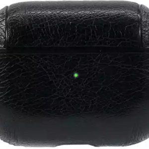 Hoes - Leer - Zwart - geschikt voor Airpods Pro - Met Opbergzak