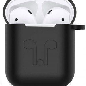 JAP - Silicone case cover met straps voor Apple Airpods en JAP Sounds - Zwart