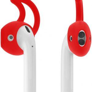 KELERINO. Anti-slip siliconen earhooks / earhoox / oorhaken voor Airpods 1 & 2 - Rood