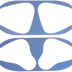 KELERINO. Metalen stofbeschermers voor Airpods 2 - Hou je Airpods schoon - 2 stuks - Blauw