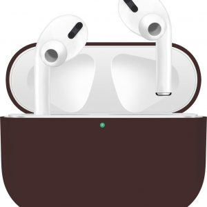 KELERINO. Siliconen Case voor Apple AirPods Pro - Hoesje - Bruin
