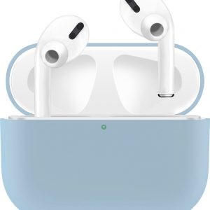KELERINO. Siliconen Case voor Apple AirPods Pro - Hoesje - Licht Blauw