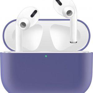KELERINO. Siliconen Case voor Apple AirPods Pro - Hoesje - Paars
