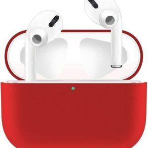 KELERINO. Siliconen Case voor Apple AirPods Pro - Hoesje - Rood