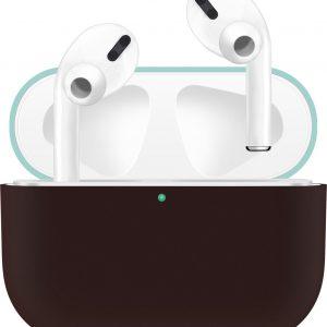 KELERINO. Siliconen Case voor Apple AirPods Pro - Hoesje - Zwart / Groen