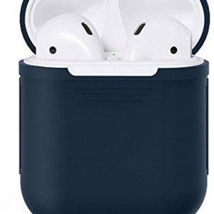 KELERINO. Siliconen hoesje voor Apple Airpods Softcase - Donker Blauw