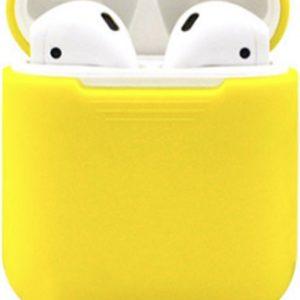KELERINO. Siliconen hoesje voor Apple Airpods Softcase - Geel