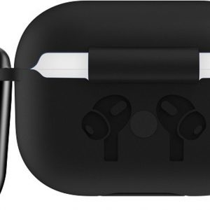 Mobigear Siliconen Cover Zwart voor Apple AirPods