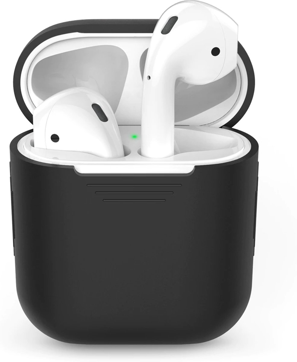 Silicone Case Cover Hoesje voor Apple Airpods - Zwart