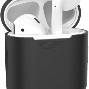 Siliconen Bescherm Hoesje Case Cover voor Apple AirPods 2 Hoes Zwart