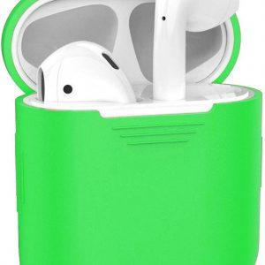 Siliconen Bescherm Hoesje Case Cover voor Apple AirPods Hoes - Groen