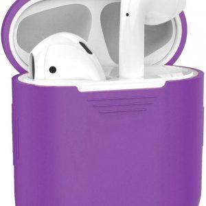 Siliconen Bescherm Hoesje Cover Hoes voor Apple AirPods 2 Case - Paars