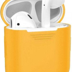 Siliconen Bescherm Hoesje Cover Hoes voor Apple AirPods Case - Oranje