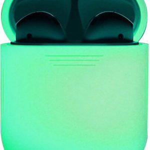 Siliconen Bescherm Hoesje Cover voor Apple AirPods 2 Case - Glow in the dark