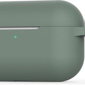 Siliconen Case Apple AirPods Pro midnight green - AirPods hoesje groen met Haak