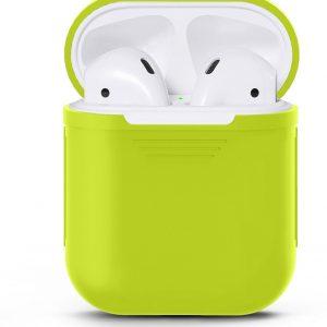 Siliconen case   geschikt voor airpods   geel