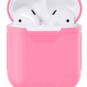 Siliconen case   geschikt voor airpods   roze