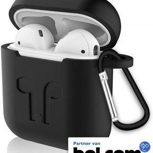 Siliconen hoesje voor Apple AirPods - Zwart