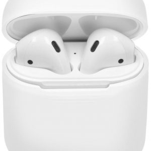 Soft silicone cover | voor Apple airpods| draadloze koptelefoon bescherm hoes | safety case| wit/white