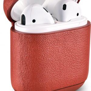 iCarer - Nappa Etui voor Apple AirPods - Rood
