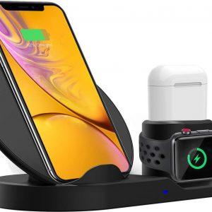 3-in-1 QI draadloze oplaadbasis voor smartphones, Apple I-watches, en Apple AIRPOD