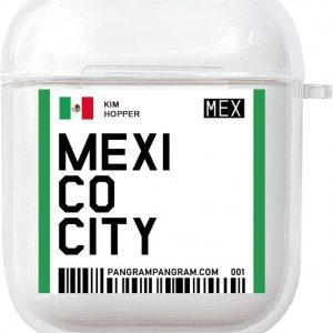 AirPods Case Cover City - Beschermhoes - Mexico City - Geschikt voor Apple AirPods 1 & 2 - gerrey.