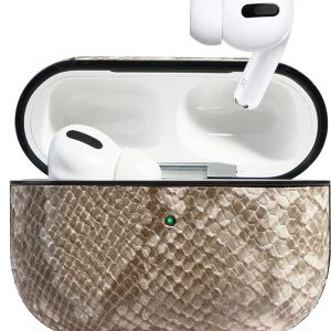 AirPods pro cover case hoesje- Snake white pro -Airpods case