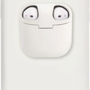 Discount 4 Life - Telefoonhoesje met AirPods doosje voor iPhone 7+/8+ Wit - Hoesje met AirPods case holder op telefoon 2 in 1.